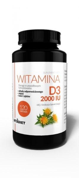 Witamina D3 2000 IU 120 kapsułek