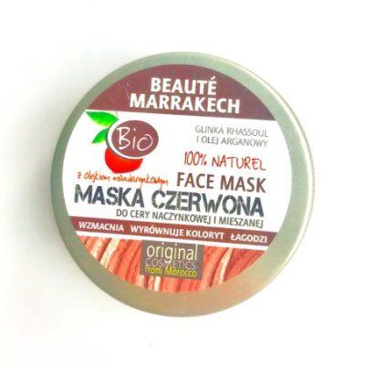Beaute Marrakech marokańska bio maseczka do cery naczynkowej i mieszanej-maska czerwona, 100g