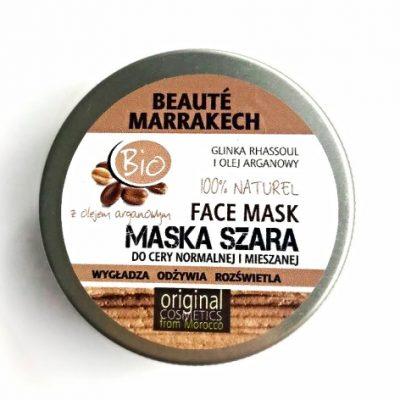 Beaute Marrakech marokańska bio maska szara do cery normalnej i mieszanej, 100g