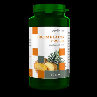 BROMELAINA 500 mg VITADIET 60 kaps