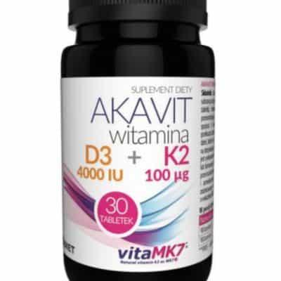 AKAVIT witamina D3 4000 IU + K2 100 µg 30 tabletek