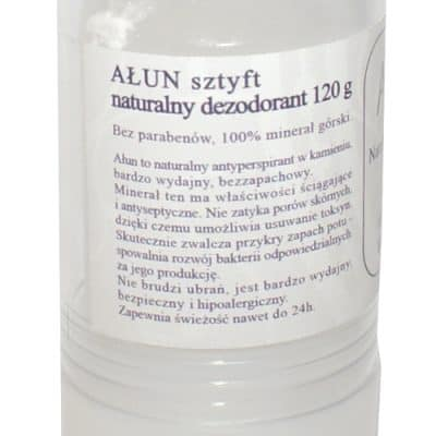 Naturalny Antyperspirant w sztyfcie – Ałun – 100% naturalny – 115gr