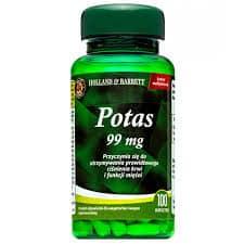 Potas 99 mg- 100 tabletek Holland@Barrett