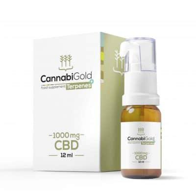 OLEJKI KONOPNE CannabiGold Tepenes+ 1000 mg
