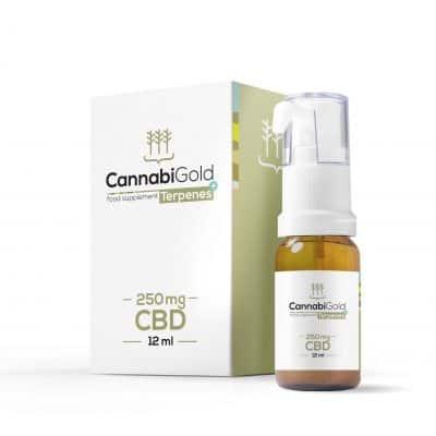 OLEJKI KONOPNE CannabiGold Tepenes+ 250 mg