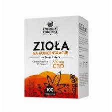 Zioła na koncentrację 100 kapsułek (500 mg CBD)